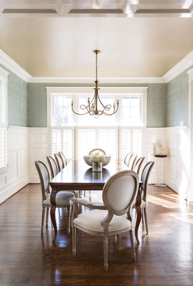 Woodbridge Furniture for a Traditional Dining Room with a Colorful and Bethesda Residence by Homegrown Decor, LLC