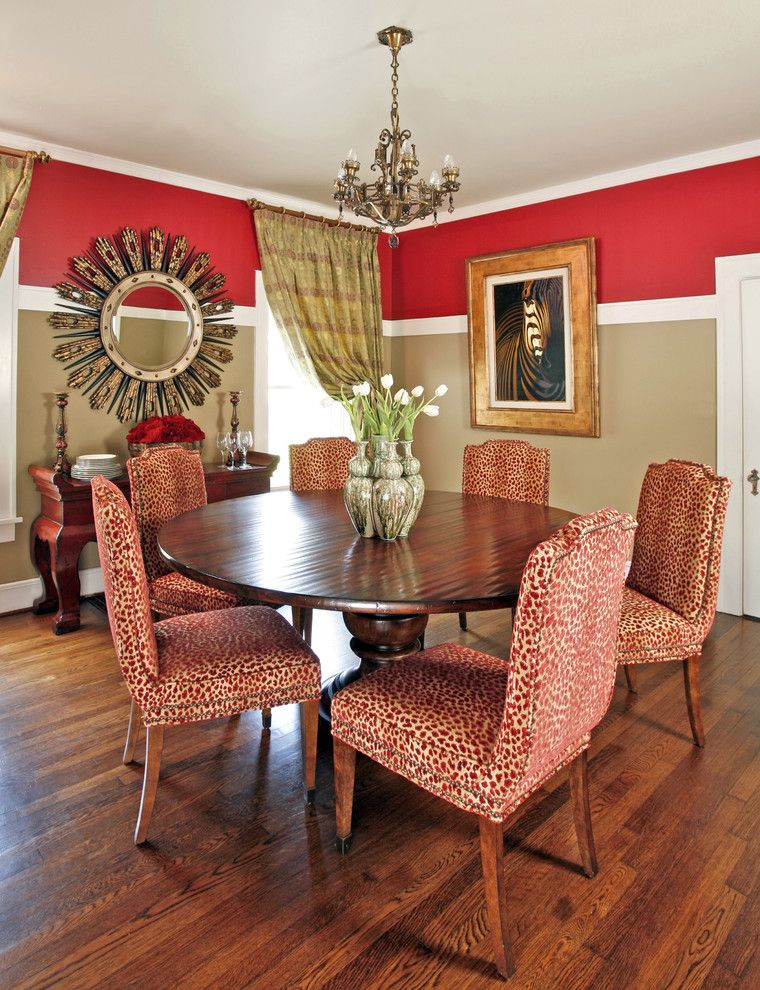 Woodbridge Furniture for a Traditional Dining Room with a Historical and Ft. Worth Historical Residence by Dona Rosene Interiors