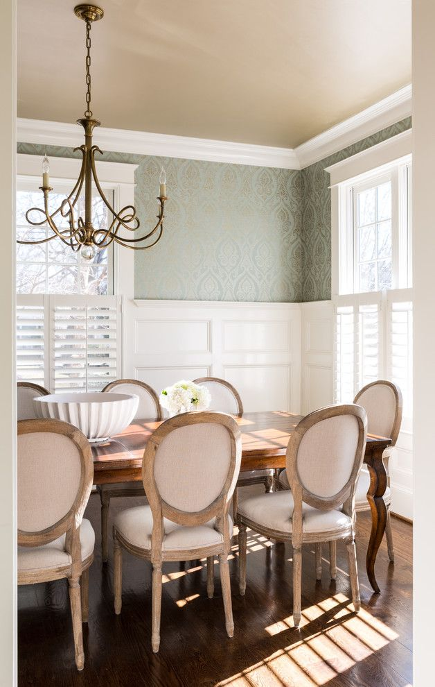 Woodbridge Furniture for a Traditional Dining Room with a Warm and Bethesda Residence by Homegrown Decor, LLC