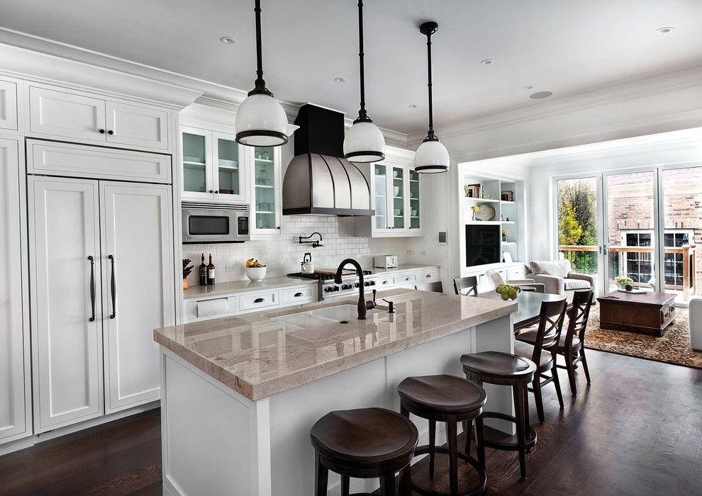 Woodbridge Furniture For A Traditional Kitchen With A Oil Rubbed Bronze  Pendant And Kitchen By TZS