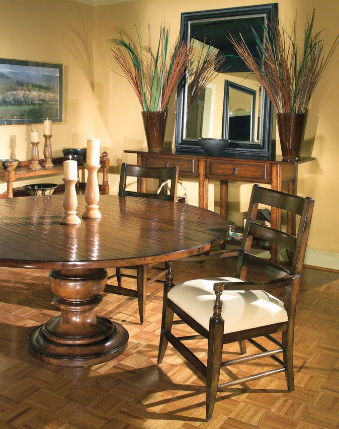 Woodbridge Furniture for a Transitional Dining Room with a Woodbridge Dining Rooms and Woodbridge Furniture Blending Classic with Casual by Good's Home Furnishings