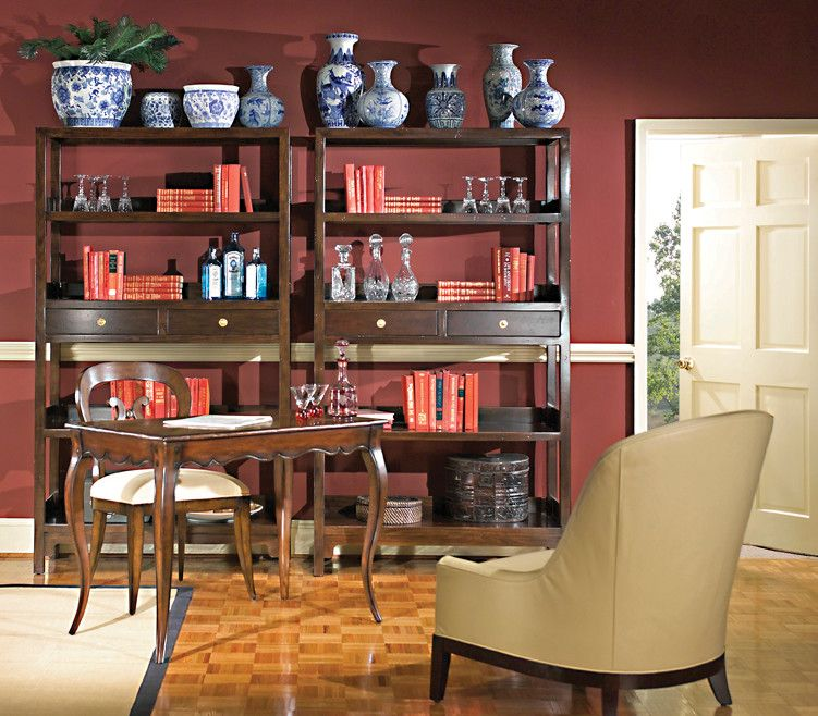 Woodbridge Furniture for a Transitional Home Office with a Woodbridge Tables and Woodbridge Furniture Blending Classic with Casual by Good's Home Furnishings