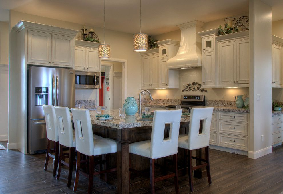 Woodland Cabinetry for a Transitional Spaces with a Custom Hood and Falcon Ridge Kitchen by Woodland Cabinetry by Woodland Furniture