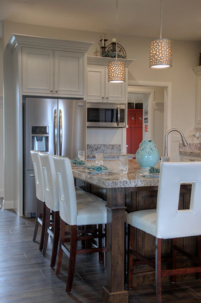 Woodland Cabinetry for a Transitional Spaces with a Painted Cabinetry and Falcon Ridge Kitchen by Woodland Cabinetry by Woodland Furniture