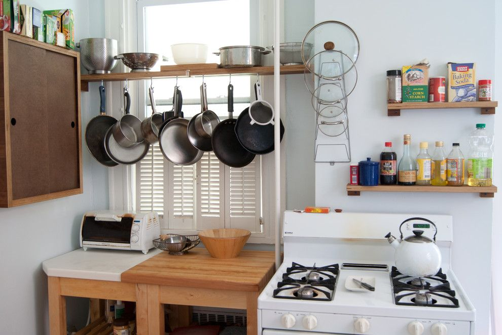 Woodshop Ideas for a Eclectic Kitchen with a Small Kitchen and Upcycled Everything Apartment Kitchen Renovation by Day Shift Furniture
