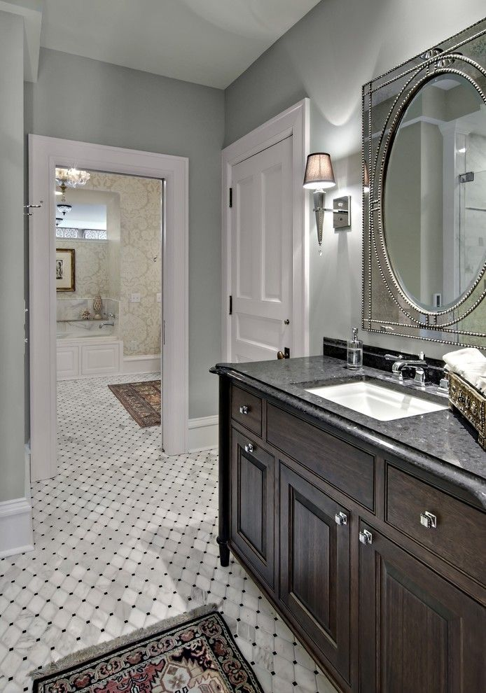 Woodshop Ideas for a Traditional Bathroom with a White Trim and the Woodshop of Avon by the Woodshop of Avon