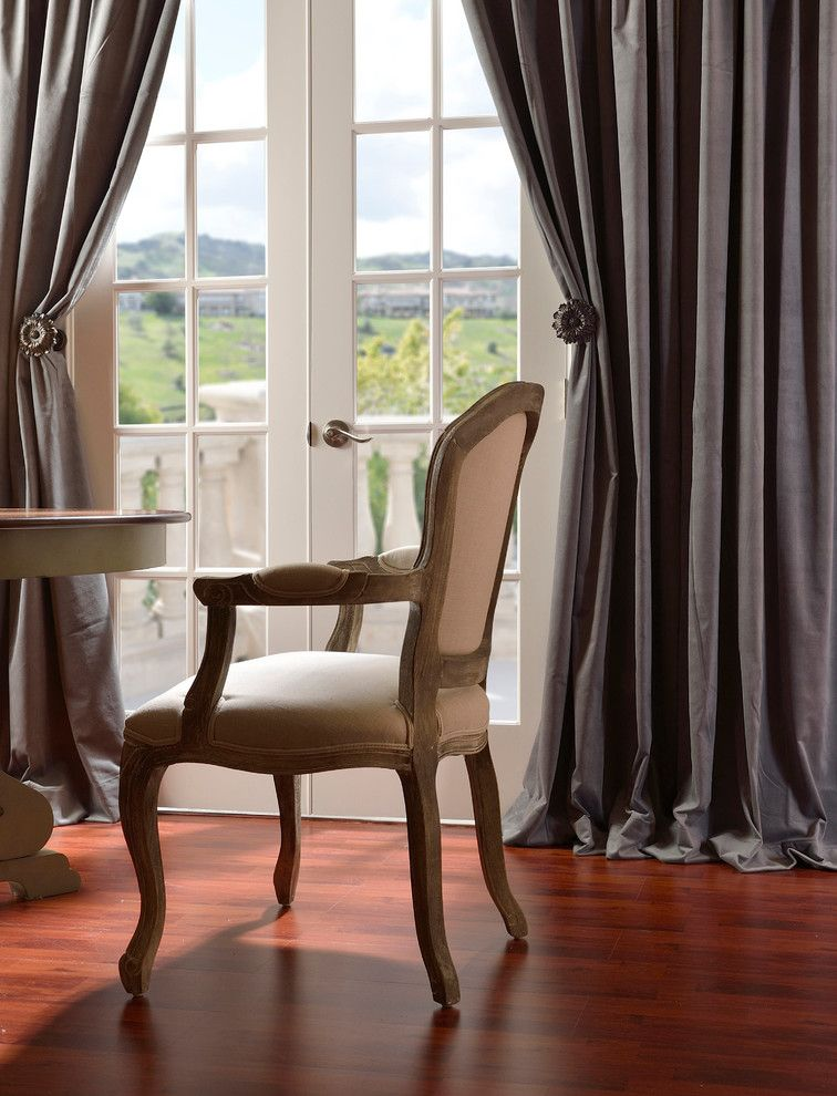 Woodshop Ideas for a Traditional Dining Room with a Armchair and Half Price Drapes by Halfpricedrapes