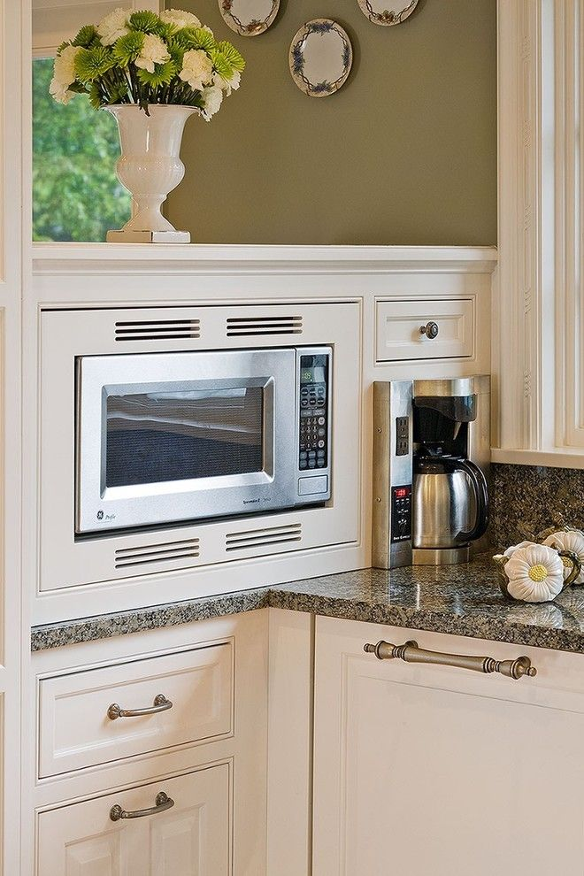 Woodshop Ideas for a Traditional Kitchen with a Built in Coffee Maker and the Woodshop of Avon by the Woodshop of Avon