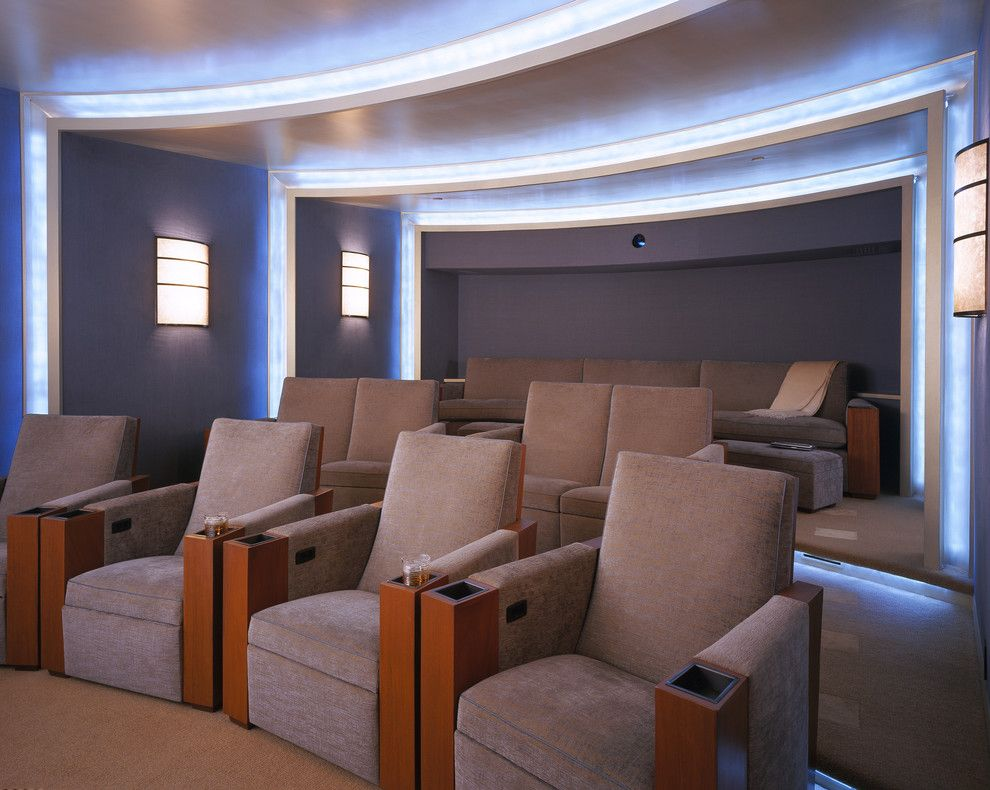 Wormald Homes for a Contemporary Home Theater with a Home Theater and Pacific Heights Estate by via – San Francisco