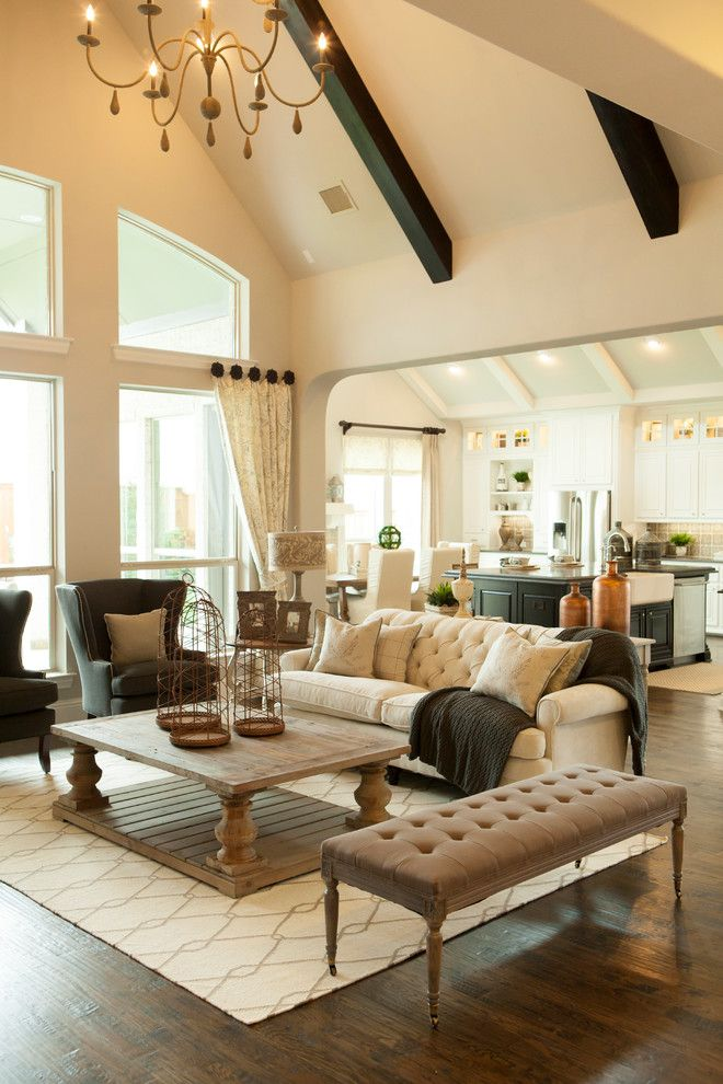 Wormald Homes for a Traditional Living Room with a Ceiling Beams and Phillips Creek Ranch | Shaddock Homes by Shaddock Homes