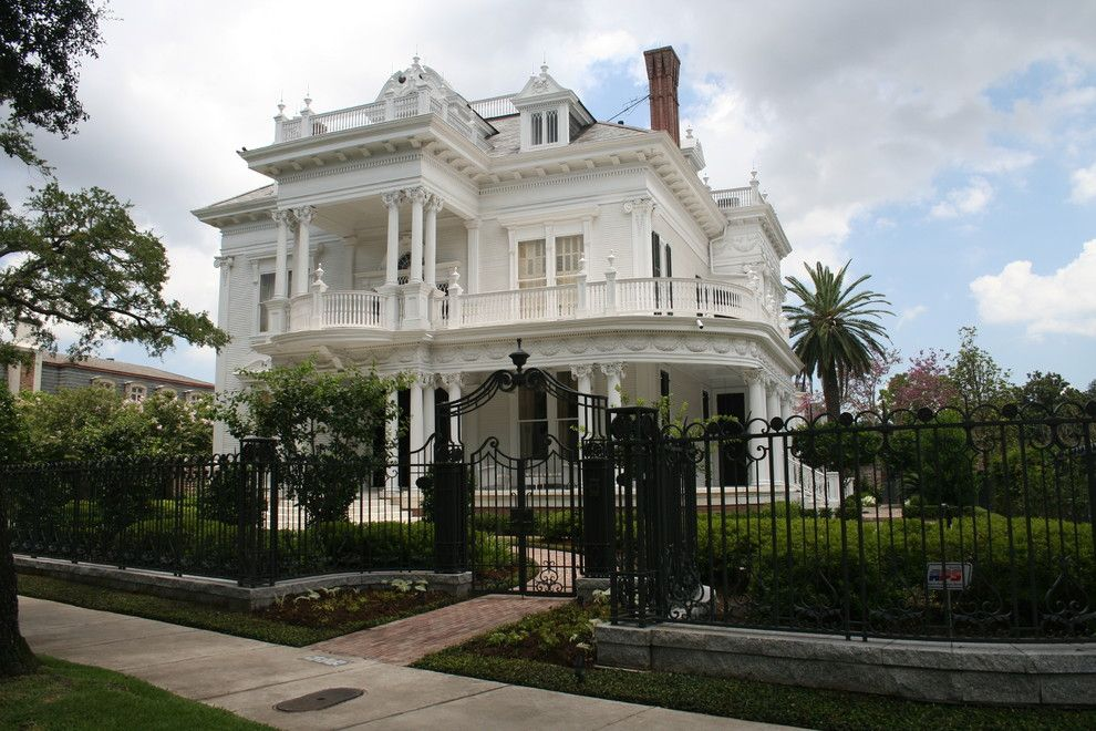 Wormald Homes for a Victorian Exterior with a Antebellum Style and New Orleans Estate by Mcdugald Steele