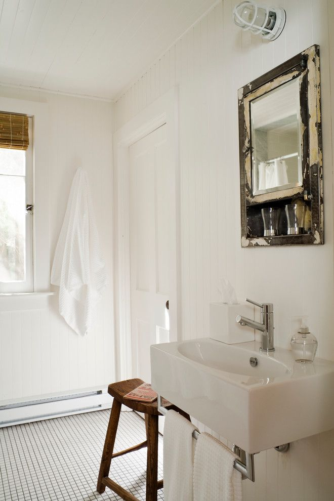Worts for a  Spaces with a Cottage Bathroom and Cottages by Jennifer Worts Design Inc.