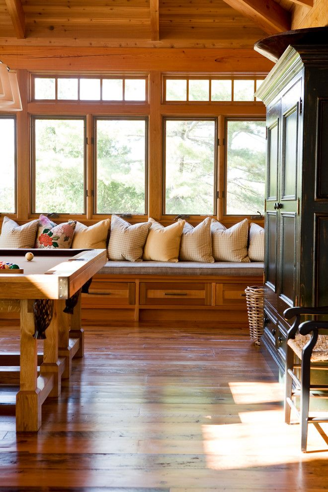 Worts for a  Spaces with a Pool Table and Cottages by Jennifer Worts Design Inc.