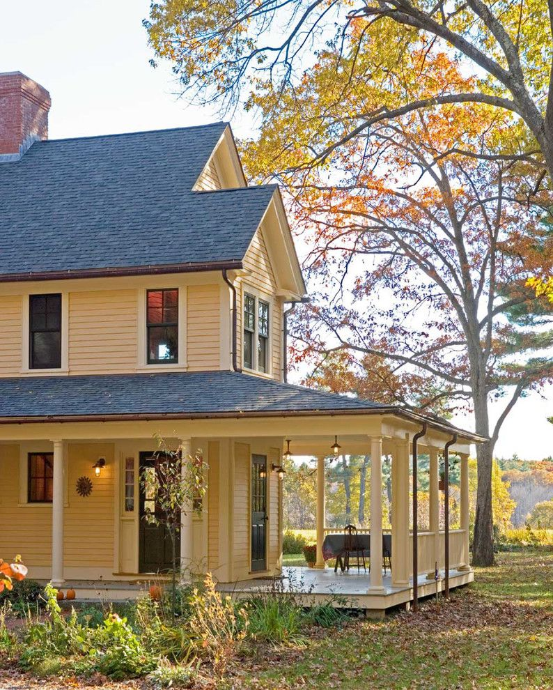 Old farmhouse plans with wrap around porches for Farmhouse building plans photos