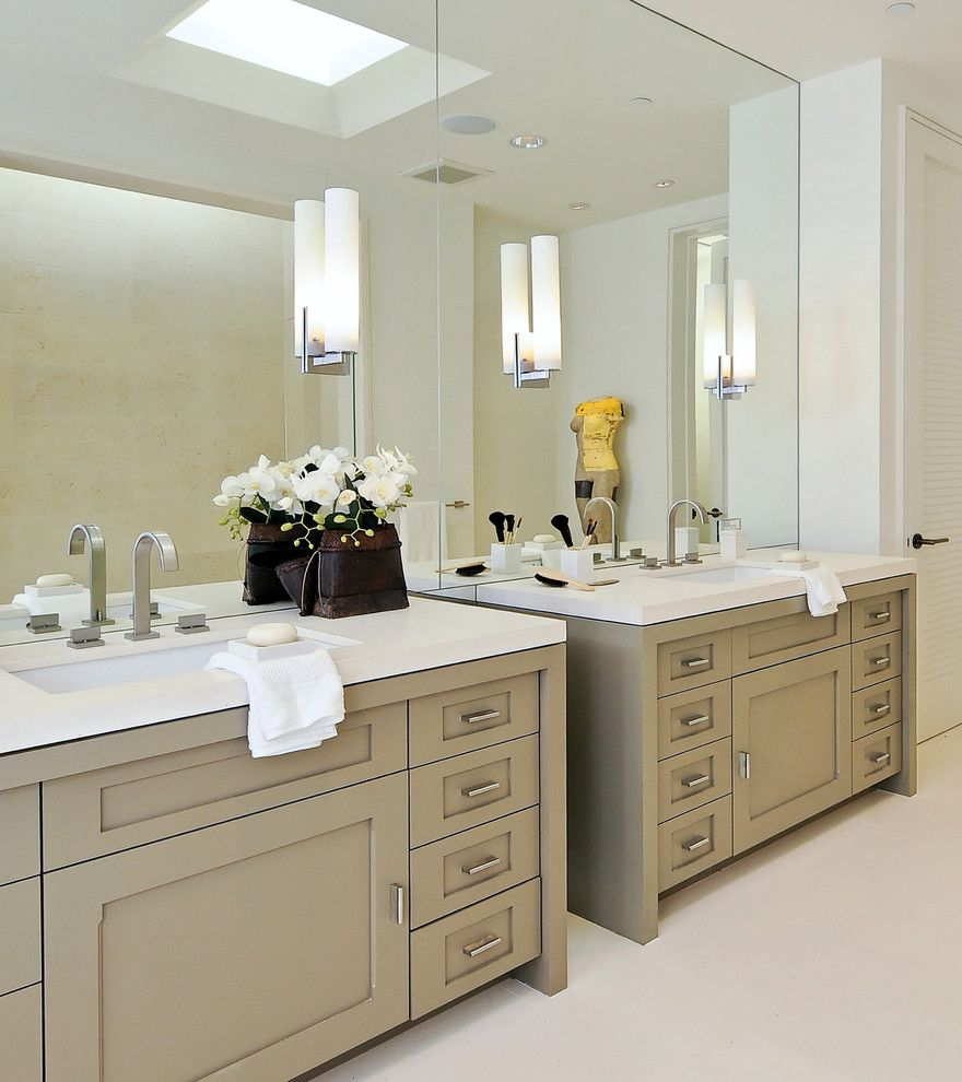 Ws Bath Collections for a Contemporary Bathroom with a White Counters and Walsh Project by Pacific Peninsula Group