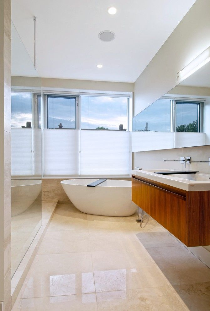 Ws Bath Collections for a Modern Bathroom with a Bathroom Lighting and Master Bath by Andrew Snow Photography