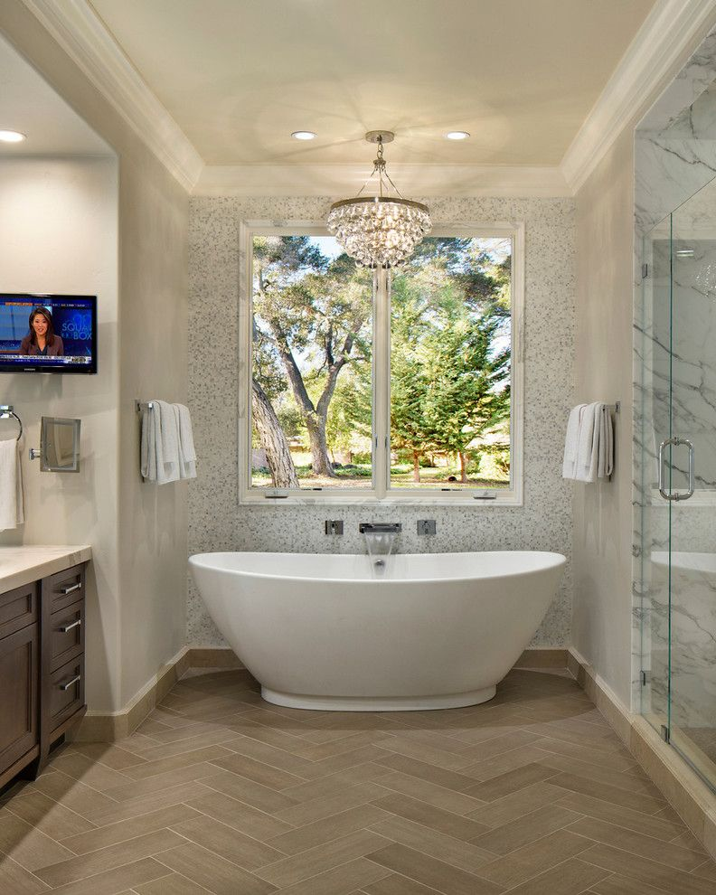 Ws Bath Collections for a Traditional Bathroom with a Antique Mirror and Master Bath2 by TRG Architects