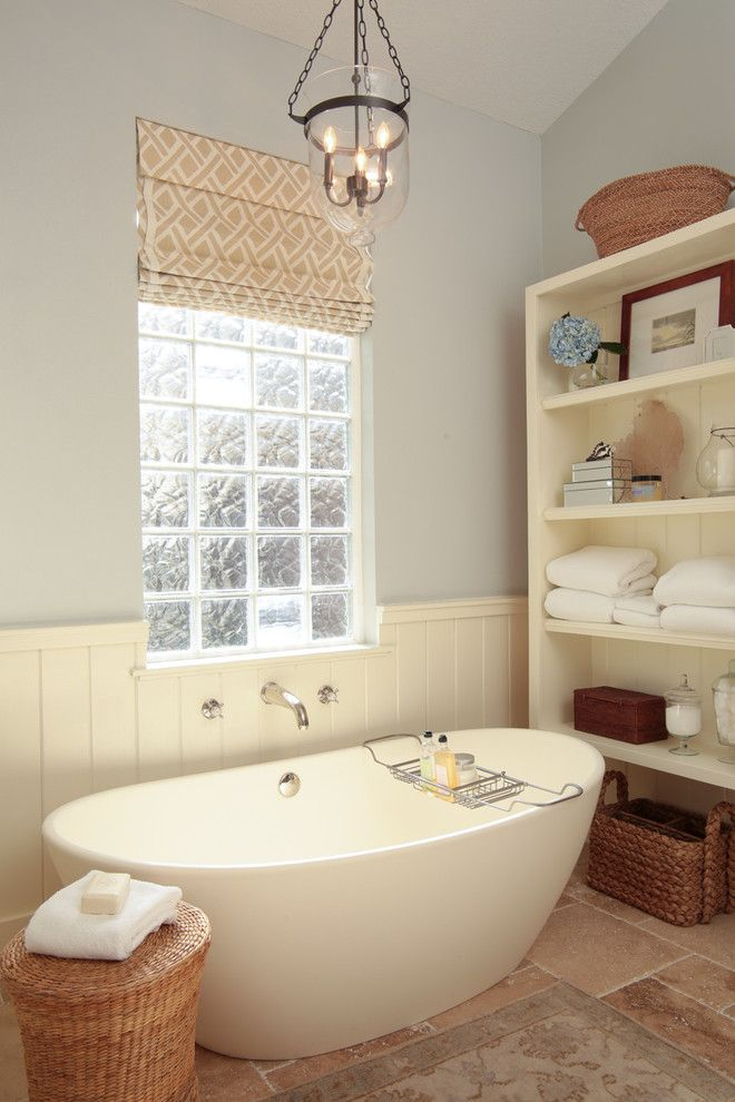 Ws Bath Collections for a Traditional Bathroom with a Wall Planks and Elegant Cottage Bathroom by Lauren Leonard Interiors