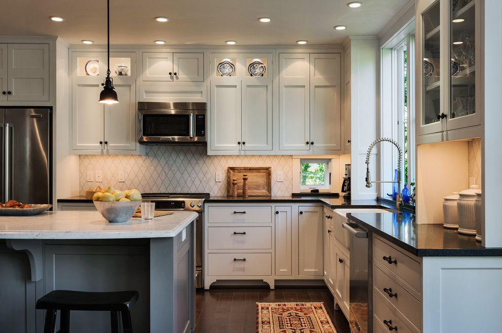 Www.sharpusa.com for a Beach Style Kitchen with a Refrigerator and Hills Beach Cottage by Whitten Architects