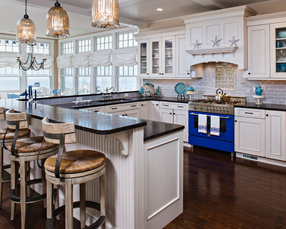 Www.sharpusa.com for a Beach Style Kitchen with a Waterfront and Harvey Cedars by Serenity Design