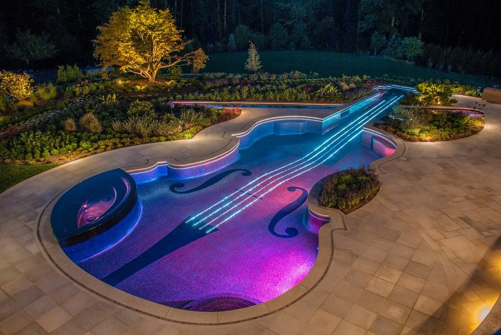 Www.sharpusa.com for a Eclectic Pool with a Beautiful Pools and Swimming Pool Landscaping Ideas Bergen County Northern Nj by Cipriano Landscape Design & Custom Swimming Pools