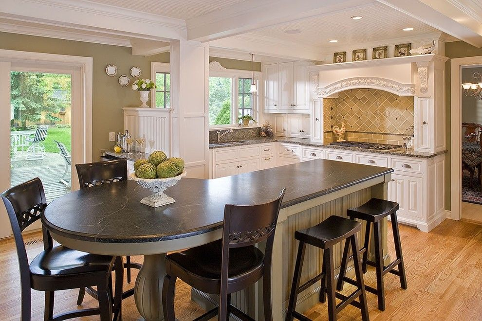 Www.sharpusa.com for a Traditional Kitchen with a Chair and the Woodshop of Avon by the Woodshop of Avon