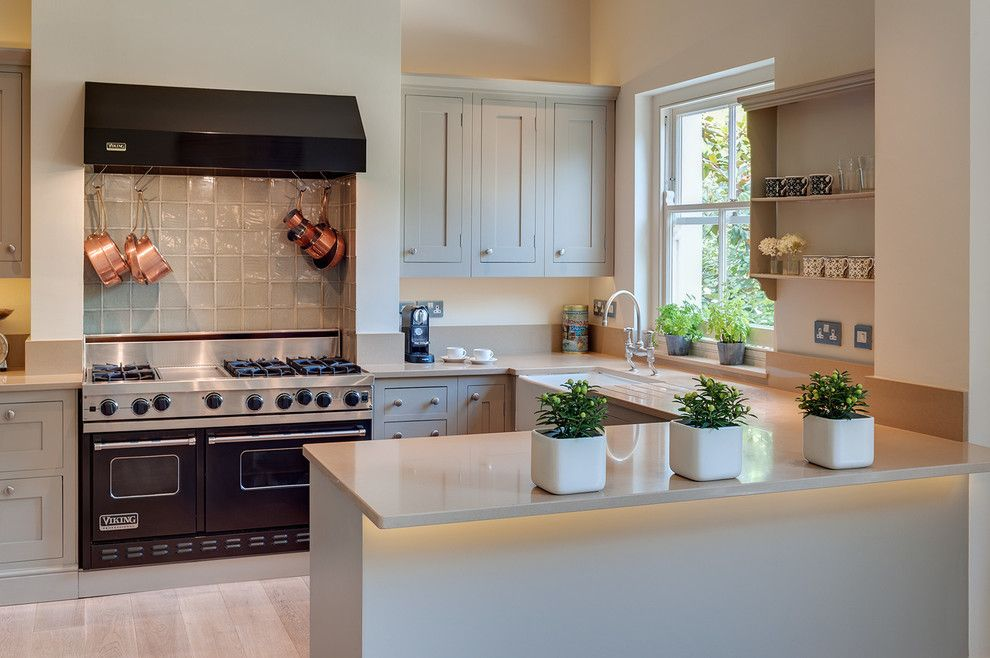Www.sharpusa.com for a Traditional Kitchen with a Grey Kitchen and London Townhouse by Woodford Architecture and Interiors