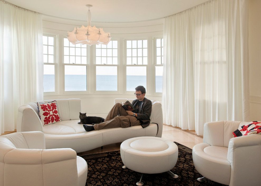 Www.tourfactory.com for a Contemporary Living Room with a Round Windows and Last House on the Left by Siemasko + Verbridge