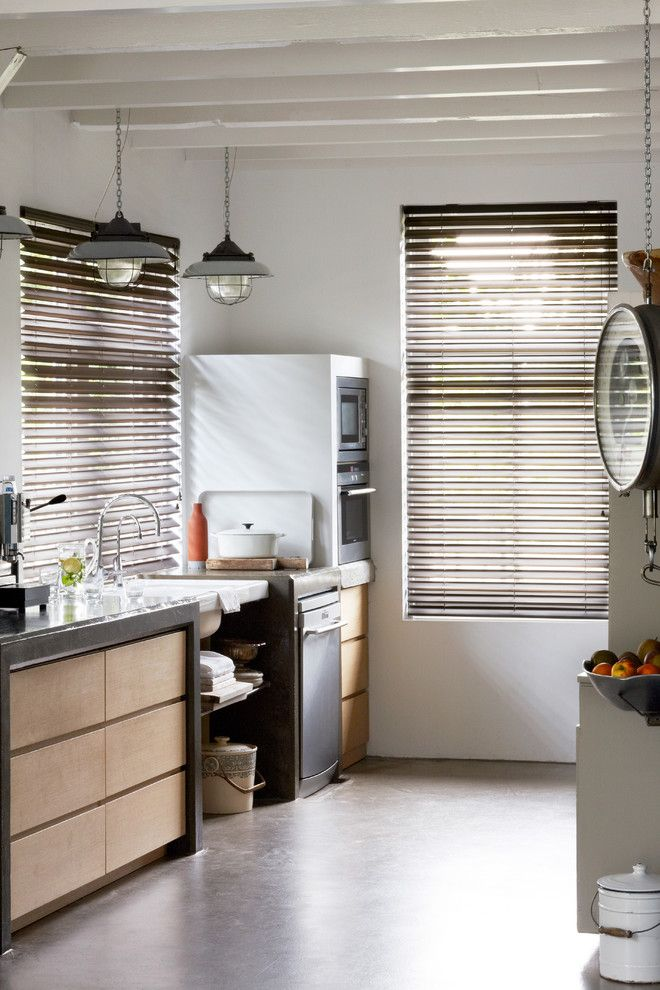 Www.tourfactory.com for a Eclectic Kitchen with a Window Coverings and Butterfly Blinds for the Kitchen by Budget Blinds