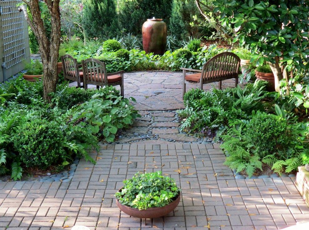 Xeriscape for a Craftsman Landscape with a Round Patio and Zero Lawn Xeriscape by David Morello Garden Enterprises, Inc.