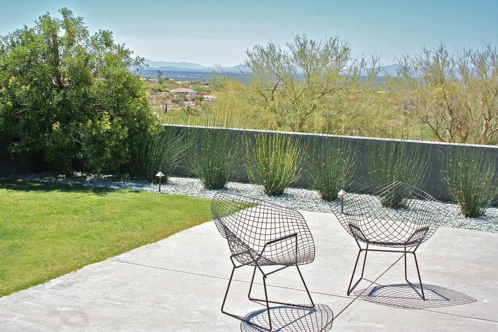 Xeriscape for a Modern Landscape with a Patio Furniture and Prideaux Design by Prideaux Design
