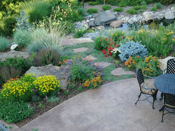 Xeriscape for a Traditional Landscape with a Arid Landscape and Xeric by Lifescape Colorado.