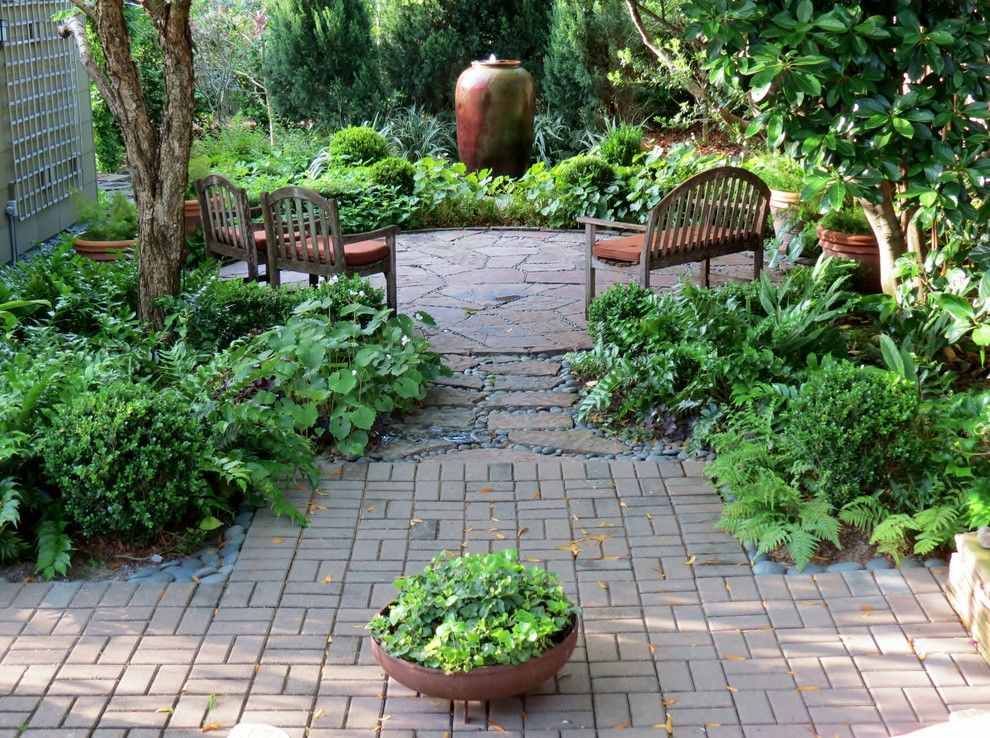 Xeriscaping for a Craftsman Landscape with a Patio and Zero Lawn Xeriscape by David Morello Garden Enterprises, Inc.