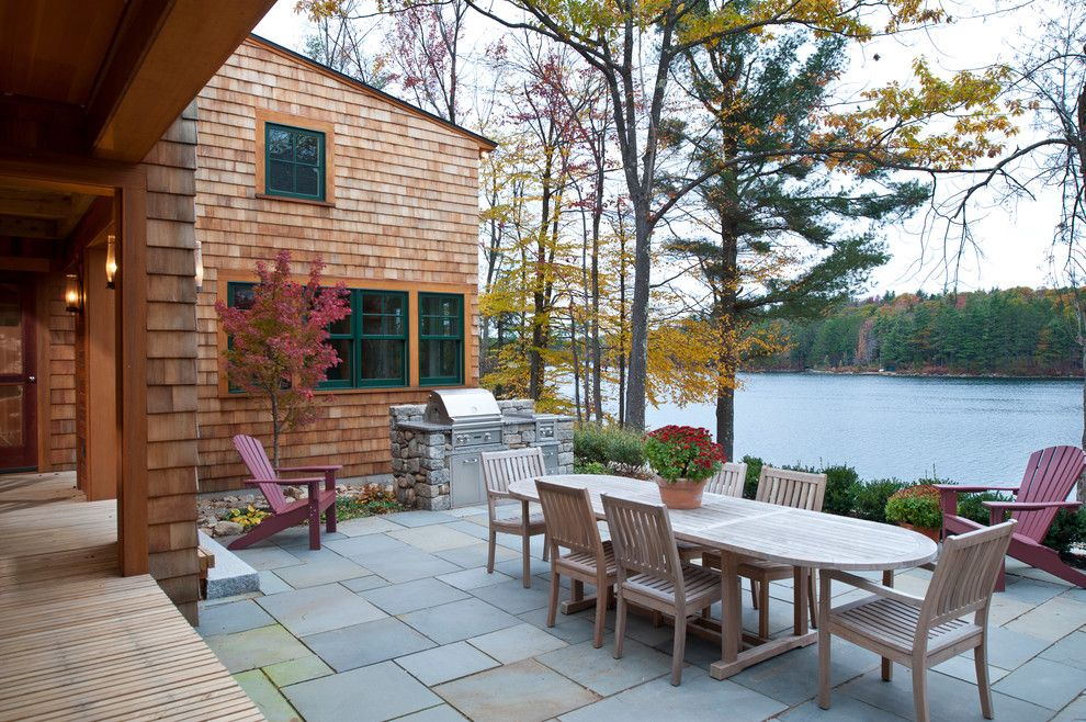 Ymca Town Lake for a Traditional Patio with a Outdoor Grill and New Hampshire Lake House by Sheldon Pennoyer Architects