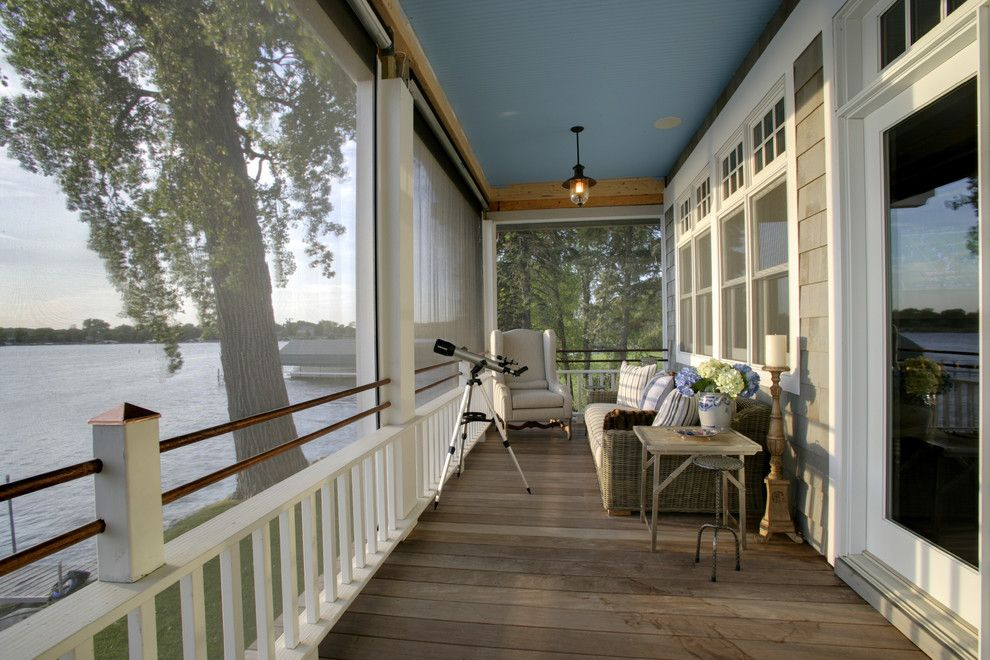 Ymca Town Lake for a Traditional Porch with a Gray Siding and Lounging at the Lake  Lake Minnetonka by Design Innovations