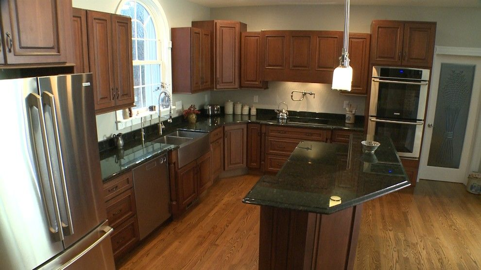 Yorktowne Cabinets for a Traditional Kitchen with a Black Countertops and Ballston Spa Kitchen by Curtis Lumber Ballston Spa