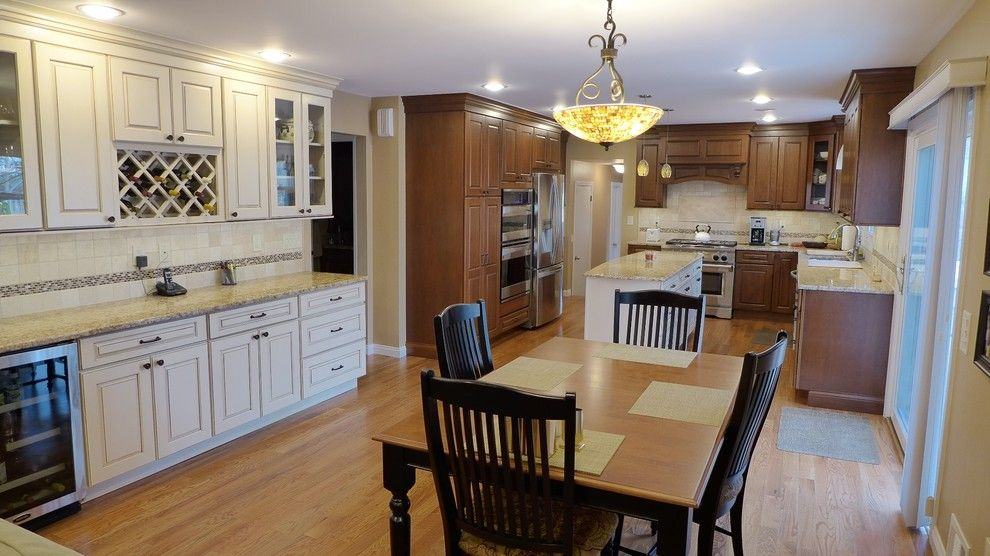 Yorktowne Cabinets for a Traditional Kitchen with a Maple and Montville Project by Blue Ridge Kitchens & Baths