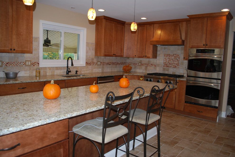 Yorktowne Cabinets for a Transitional Kitchen with a Kitchen Design and Langhorne Kitchen by Cmi Counter Tops