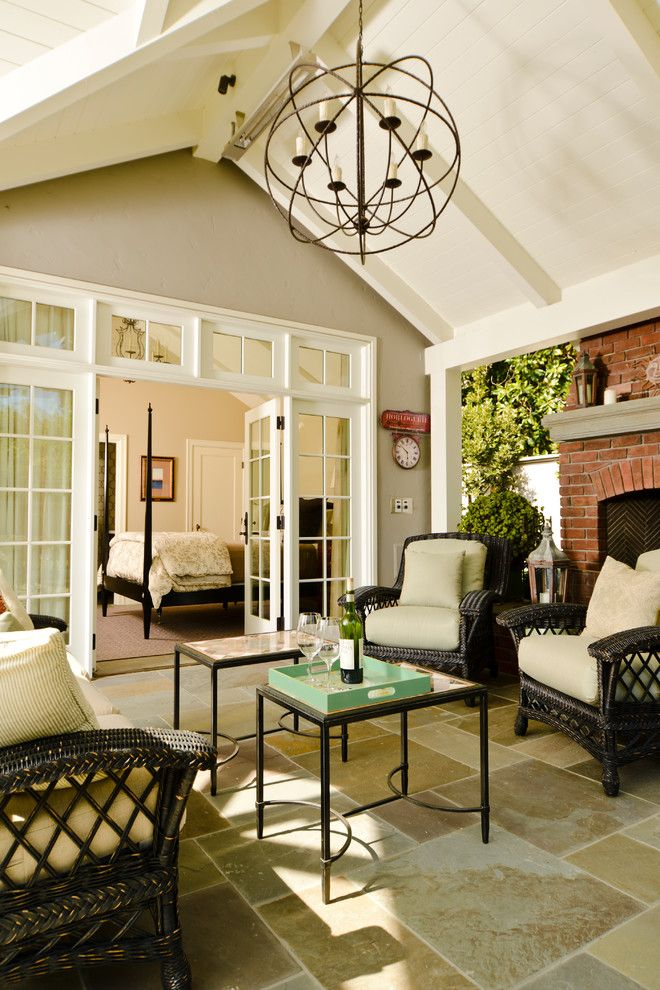 Yosemite Home Decor for a Craftsman Sunroom with a French Doors and Santa Rita Cottage by Fgy Architects