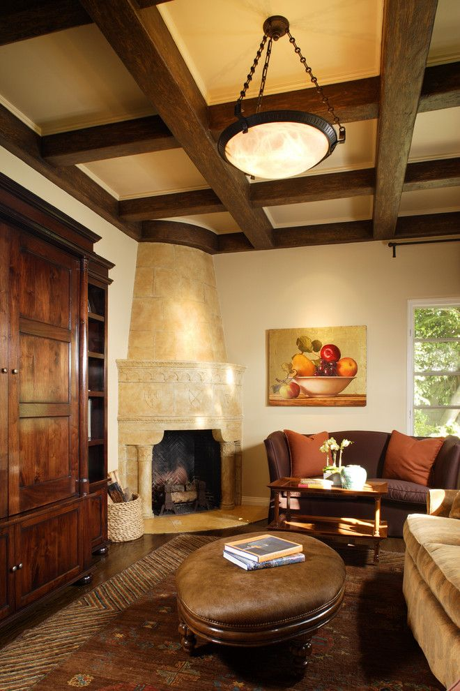 Yosemite Home Decor for a Mediterranean Family Room with a Firewood Storage and Bider by Kdl Architects