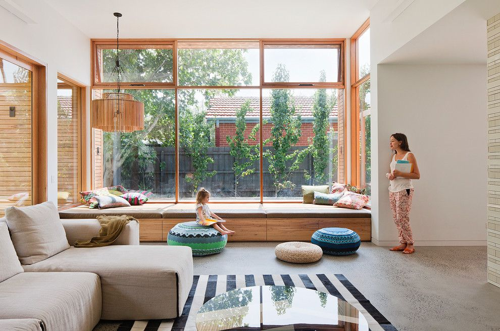 Youngs Furniture for a Contemporary Living Room with a Nsw Leather and Martin House by Bg Architecture