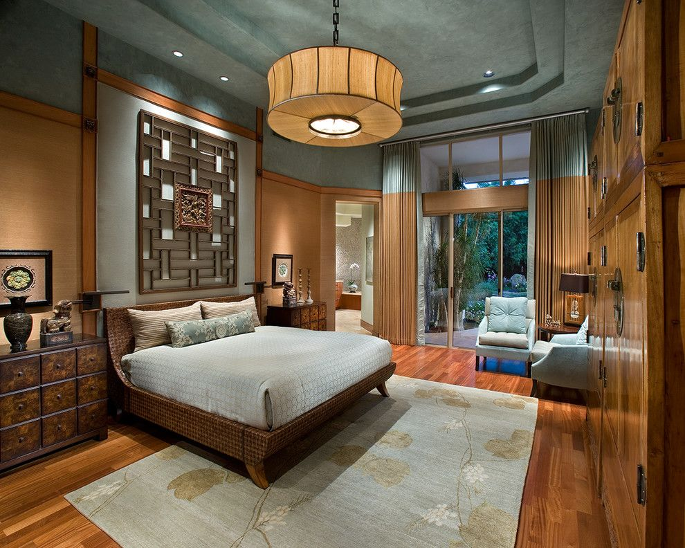 Zen Bedrooms for a Asian Bedroom with a Floor to Ceiling Windows and Luxurious Zen Resort   Paradise Valley by Imi Design, Llc