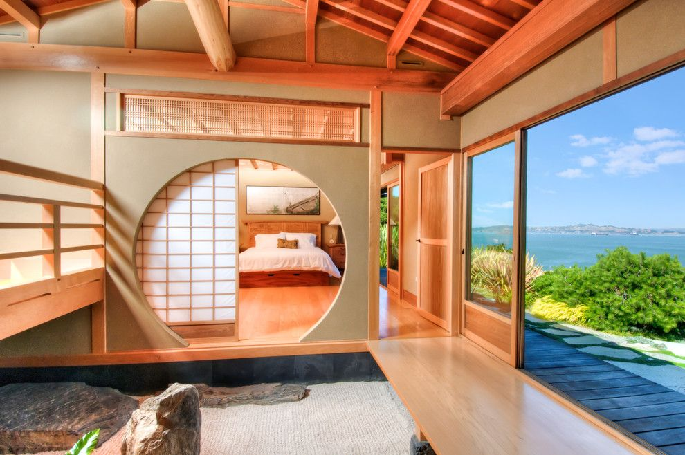 Zen Bedrooms for a Asian Bedroom with a Views and Classical Japanese Meets American Techno Luxe by Decker Bullock Sotheby's International Realty