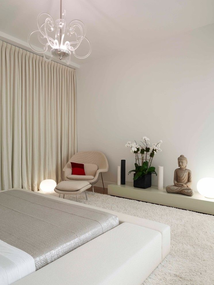 Zen Bedrooms for a Contemporary Bedroom with a Metallic and Fabulous Flat by West Chin Architects & Interior Designers
