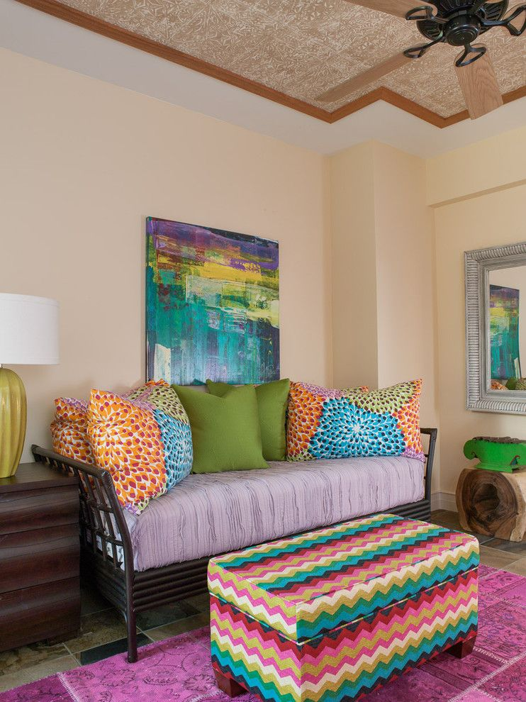 Zillow Henderson Nv for a Eclectic Bedroom with a Daybed and Hawaiian Luxury by Henderson Design Group
