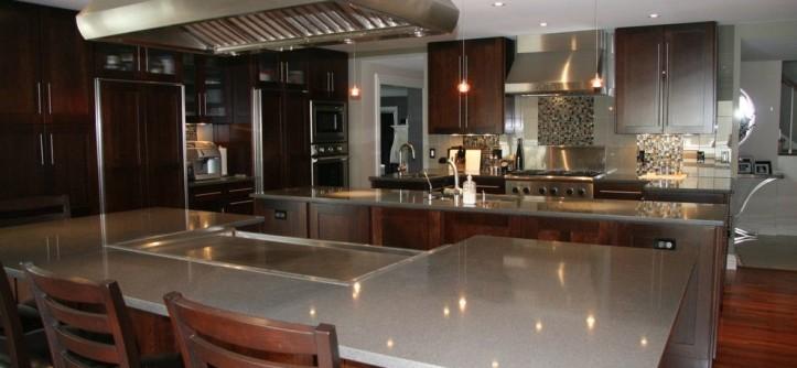 Zodiaq Quartz for a Contemporary Kitchen with a Contemporary and Storm Grey Zodiaq Quartz by Stoneway Marble, Granite & Tile