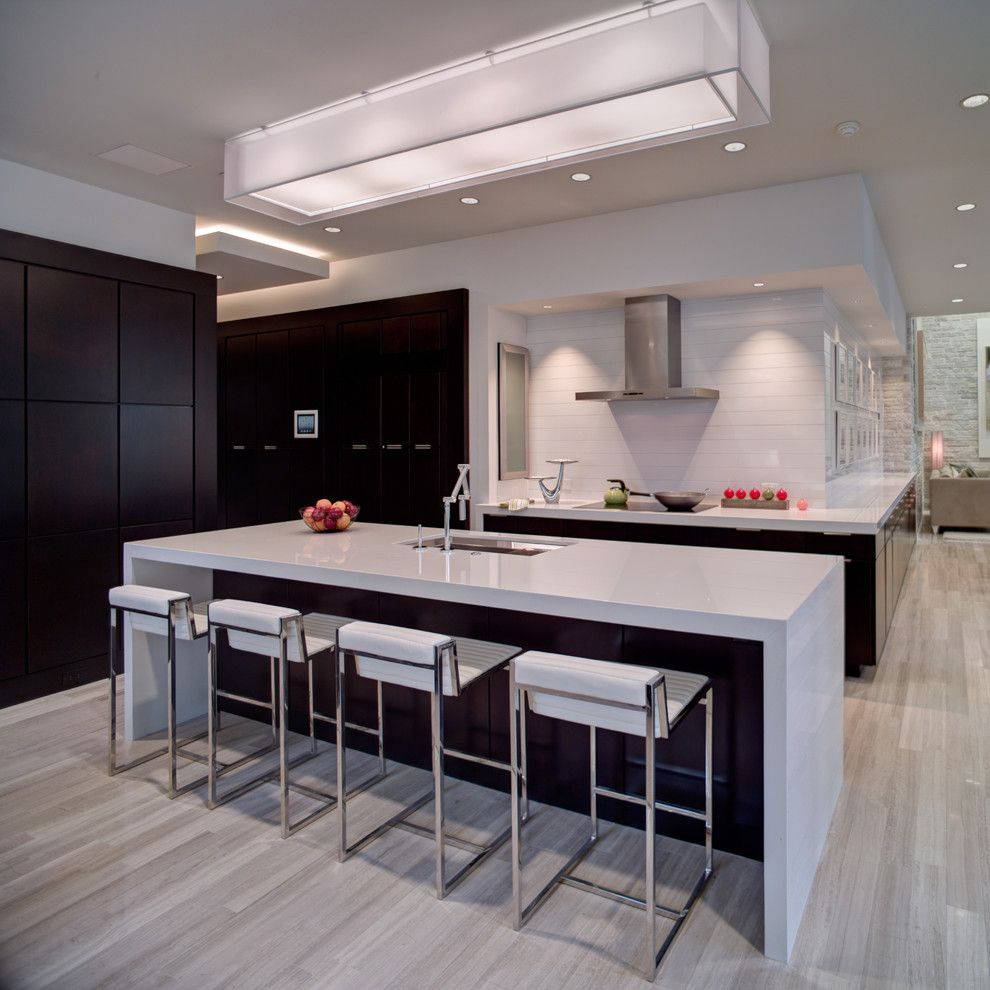 Zodiaq Quartz for a Contemporary Kitchen with a Two Tone Cabinets and 2012 New American Home by Phil Kean Designs