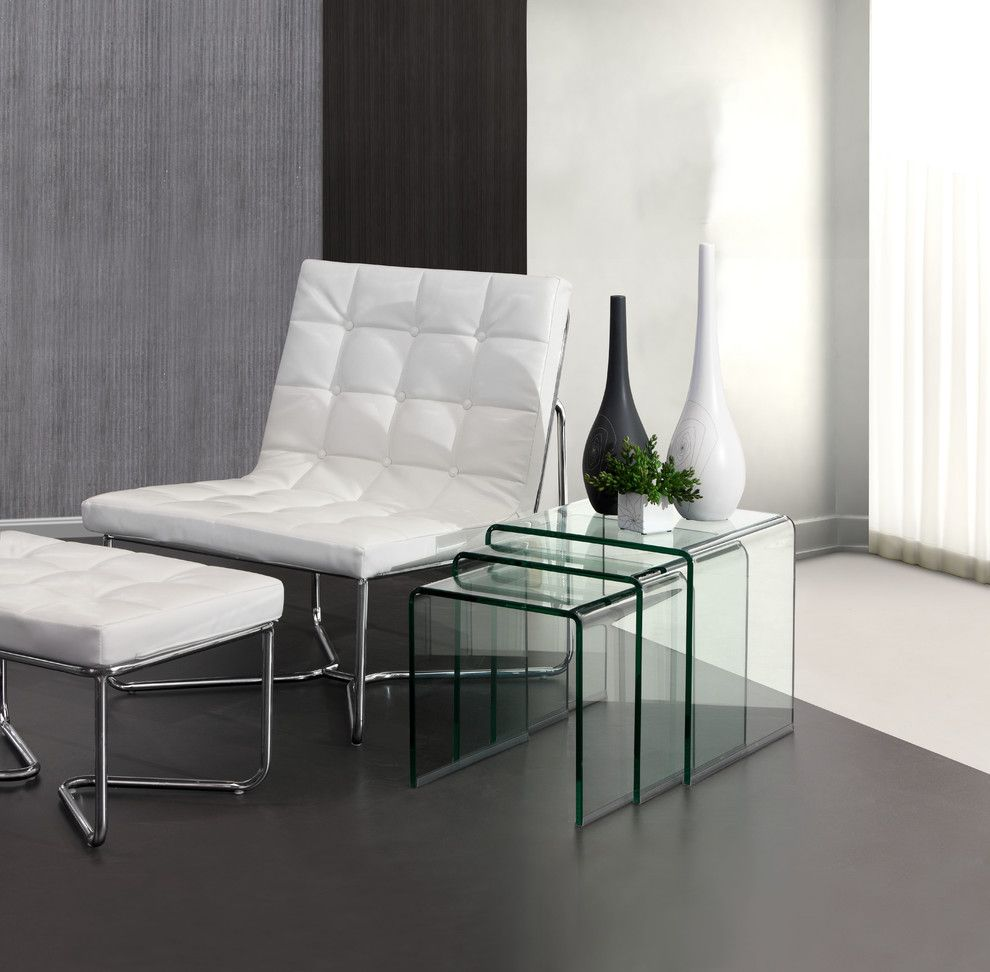 Zuomod for a Modern Living Room with a Modern Coffee Tables and Explorer Nesting Tables by Zuo Modern by Cressina