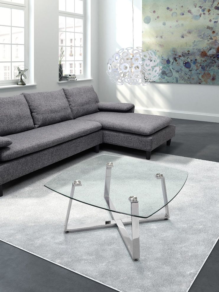 Zuomod for a Modern Spaces with a Contemporary Living Room Furniture and Lemon Drop Square Coffee Table by Zuo Modern by Cressina