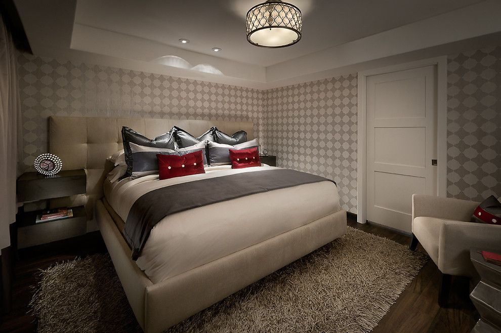 Adura for a Contemporary Bedroom with a Wood and Bedroom with Luxury Vinyl Plank Flooring by Longust Distributing